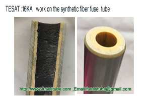 Moisture-proof fuse tube or a horn fiber fuse tube